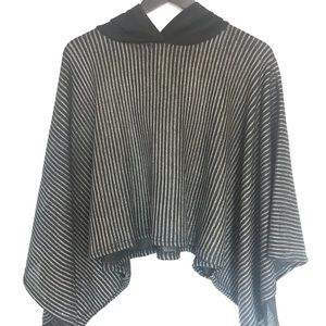 Black and silver hoodie Zara top